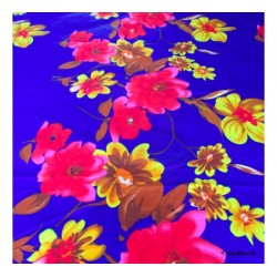 Blue-Red Floral Bed Spread