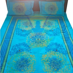 Blue Ghadi Printed Double Bedspread