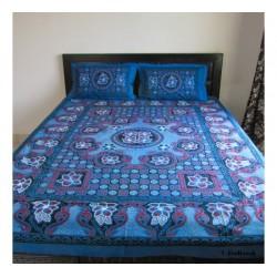 Blue Printed Bedspread