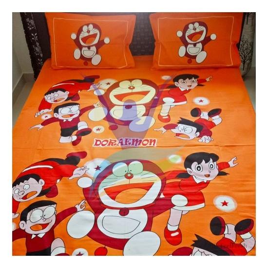 Doremon Printed Double Bedspread