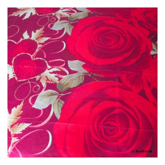 Red Floral Bed Spread