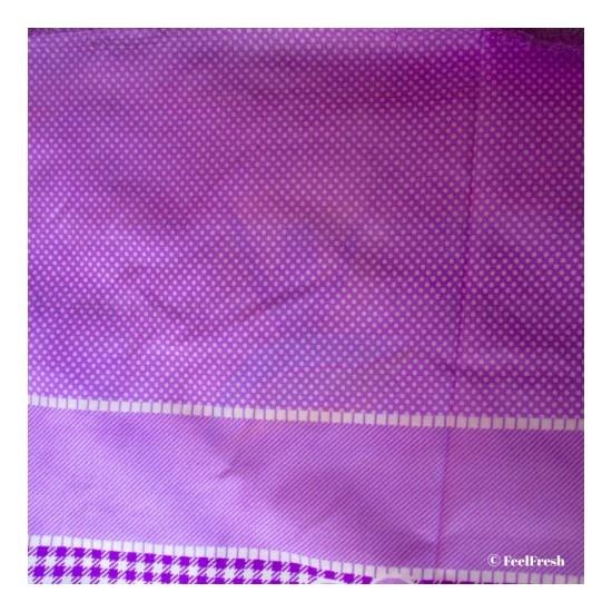 Printed Violet Bed Spread