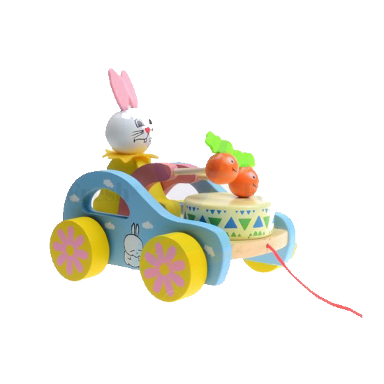 Drumming Bunny Wooden Toy